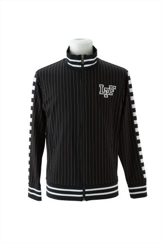 STRIPE ZIP JERSEY TOPS WITH LPF LOGO EMBROIDERY(F)