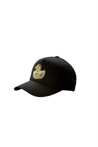 CAP WITH CAMOUFLAGE DUCK[BLACK]