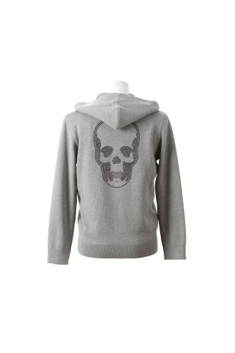 CRYSTAL SKULL (B) HOOD ZIP JACKET