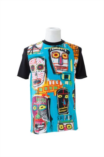 BASQUIAT MITCHELL CREW PRINT(F) ROUND NECK SHORT SLEEVE(Estate of Jean-Michel BASQUIAT)