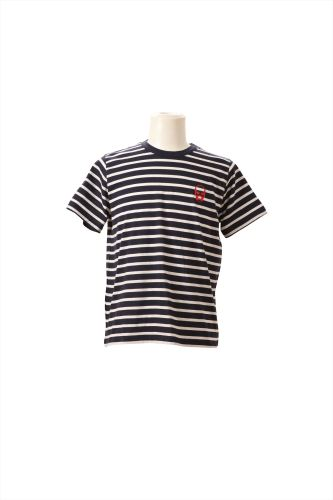 2 T-SHIRT PACK SAILOR STRIPE RNSS WITH SKULL PRINT ON CHEST