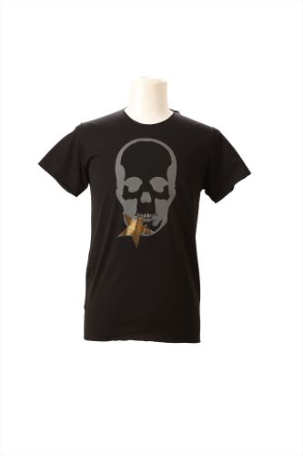 SKULL WITH CRYSTAL STAR (F) SHORT SLEEVE T-SHIRT
