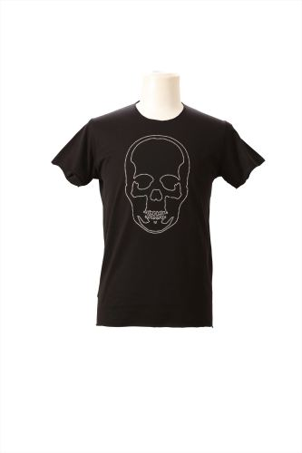 WHITE CRYSTAL OUTLINE SKULL (F) SHORT SLEEVE T-SHIRT