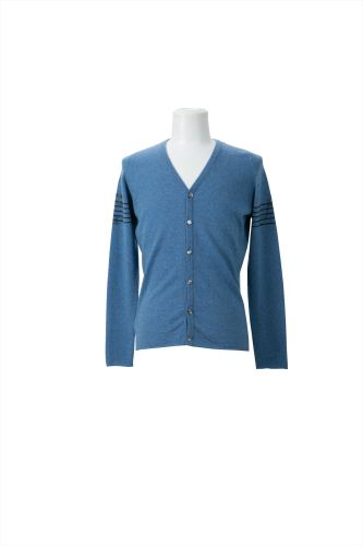 CRYSTAL MUSIC ON SLEEVES V-NECK CARDIGAN