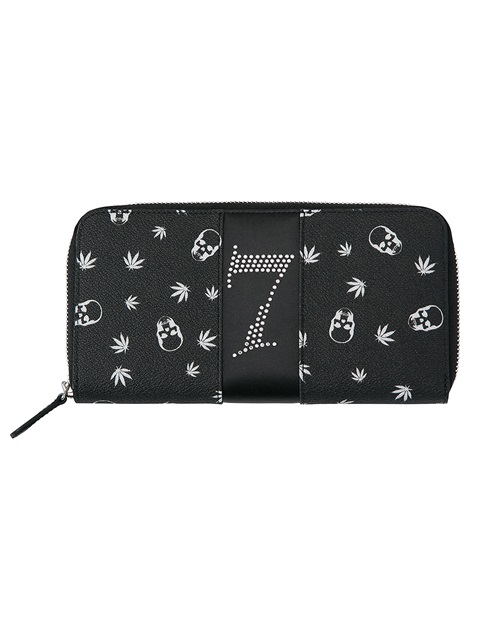 LPF MONOGRAM & CRYSTAL NO.7 WALLET LONG WITH ZIP