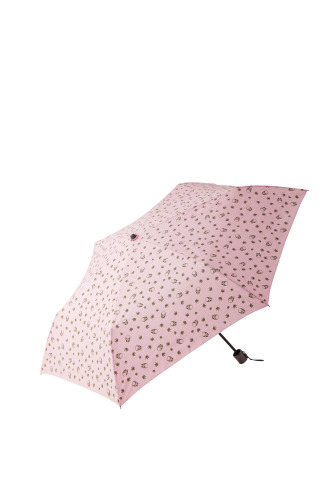SKULL &LEAF MONOGRAM FOLDING UMBRELLA