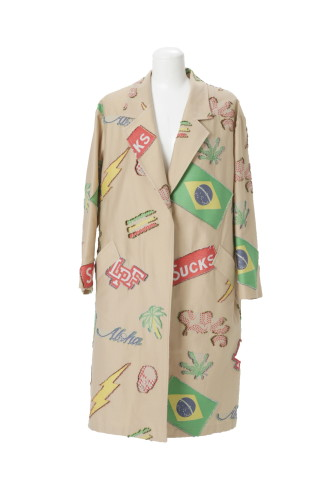 NEW LPF PATCHWORK JACQUARD OVERSIZED TAILORED COLLAR COAT