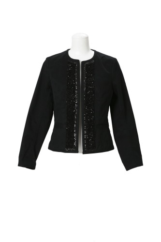 BRAIDED JACKET WITH 3D SEQUIN FREEDOM EMBROIDERY(B) (TWILLED COTTON)