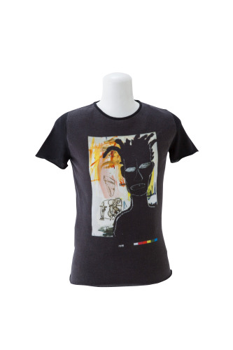 BASQUIAT UNTITLED PRINT(F) ROUND NECK SHORT SLEEVE(Estate of Jean-Michel BASQUIAT)